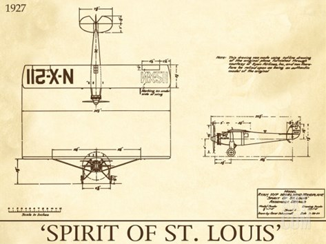 Spirit of St. Louis Stretched Canvas Print