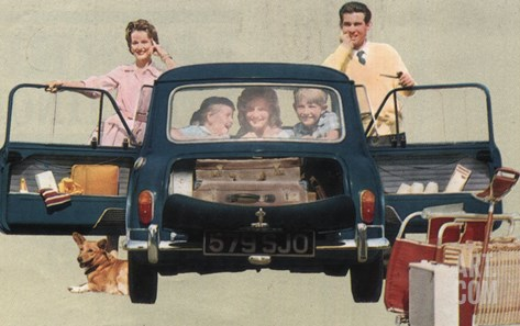 Morris Mini-Minor and Family Stretched Canvas Print
