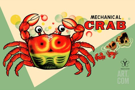 Mechanical Crab Stretched Canvas Print
