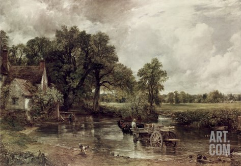 The Haywain Stretched Canvas Print