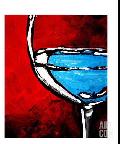 Fine Wine II Stretched Canvas Print