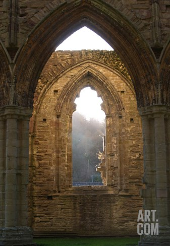 Tintern Abbey Arch Stretched Canvas Print