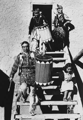 Dance, San Ildefonso Pueblo, New Mexico, 1942 Stretched Canvas Print