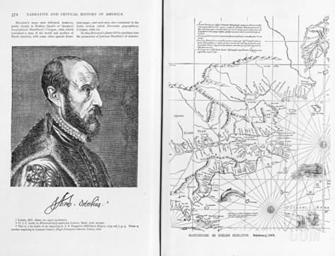 Abraham Ortel Oretelius Stretched Canvas Print