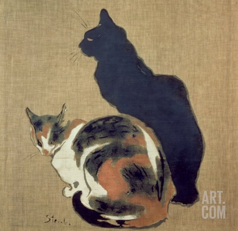 Two Cats, 1894 Stretched Canvas Print