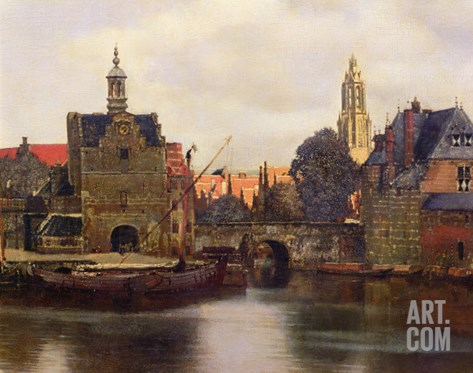 View of Delft c.1660-61 Stretched Canvas Print