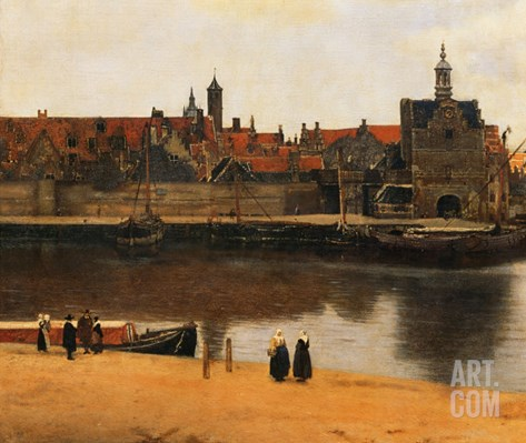 View of Delft, c.1660-61 Stretched Canvas Print