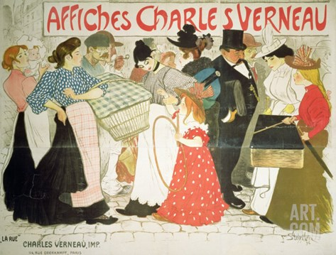 The Street, Poster For the Printer Charles Verneau, 1896 Stretched Canvas Print