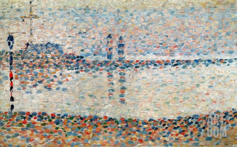 Study For 'The Channel at Gravelines, Evening', 1890 Stretched Canvas Print