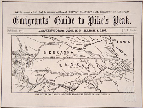 Emigrant's Guide to Pike's Peak, 1859 Stretched Canvas Print