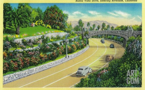 Buena Vista Drive, Entering Riverside - Riverside, CA Stretched Canvas Print
