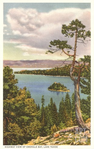 Emerald Bay, Lake Tahoe Stretched Canvas Print