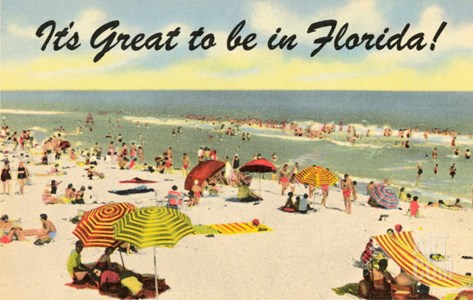 It's Great to be in Florida Stretched Canvas Print