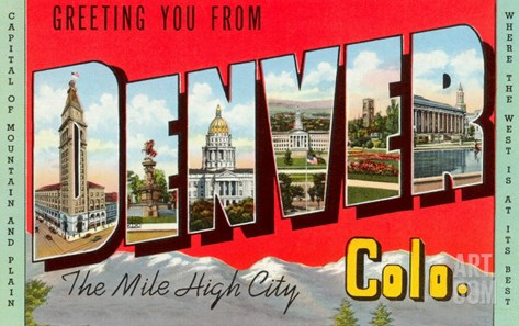 Greetings from Denver, Colorado Stretched Canvas Print