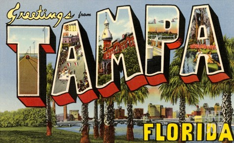 Greetings from Tampa, Florida Stretched Canvas Print