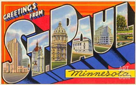 Greetings from St. Paul, Minnesota Stretched Canvas Print
