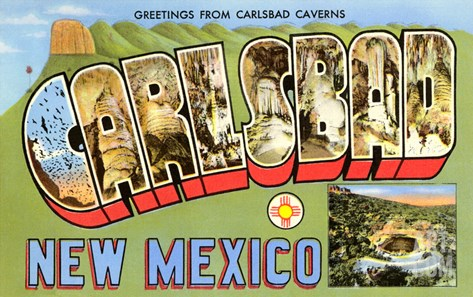 Greetings from Carlsbad, New Mexico Stretched Canvas Print