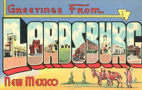 Greetings from Lordsburg, New Mexico Stretched Canvas Print