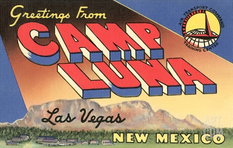 Greetings from Camp Luna, Las Vegas, New Mexico Stretched Canvas Print