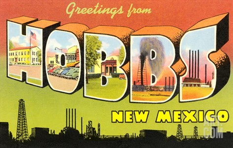 Greetings from Hobbs, New Mexico Stretched Canvas Print