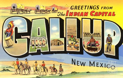 Greetings from Gallup, New Mexico Stretched Canvas Print