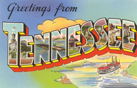 Greetings from Tennessee Stretched Canvas Print
