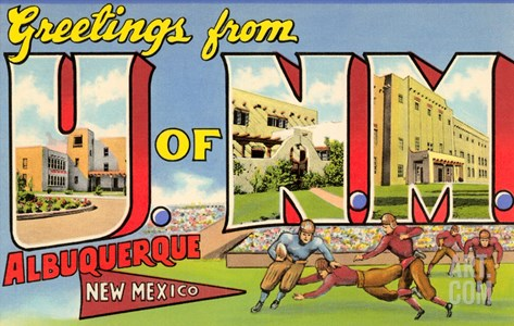 Greetings from University of New Mexico, Albuquerque, New Mexico Stretched Canvas Print