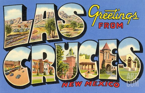 Greetings from las Cruces, New Mexico Stretched Canvas Print