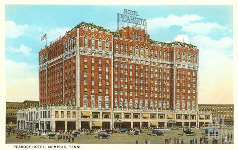 Hotel Peabody, Memphis, Tennessee Stretched Canvas Print
