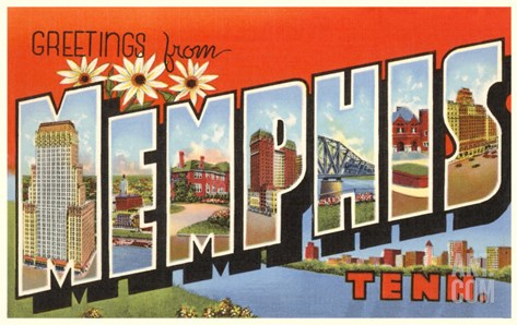 Greetings from Memphis, Tennessee Stretched Canvas Print