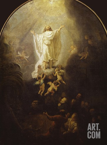 Ascension of Christ Stretched Canvas Print