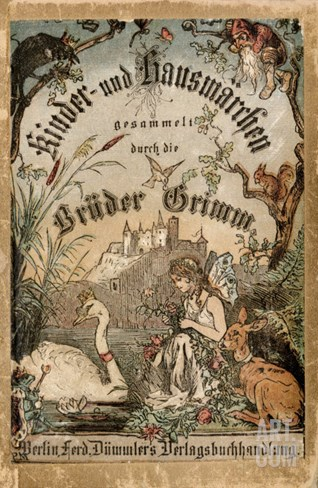 Cover of Brothers' Grimm Tales from a German Edition Published in Berlin, 1865 Stretched Canvas Print