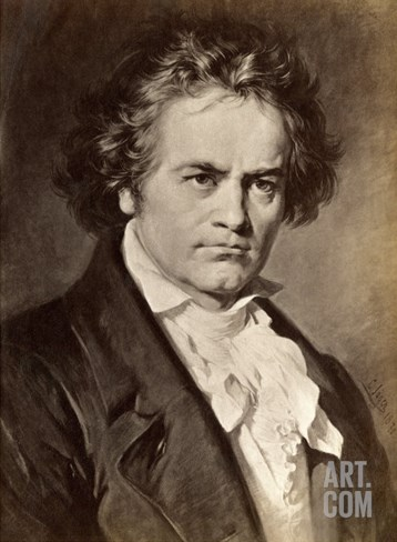 Ludwig Van Beethoven Stretched Canvas Print