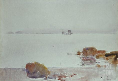 Seascape Stretched Canvas Print