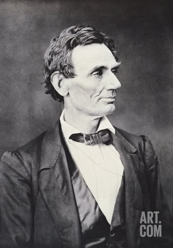 Abraham Lincoln, c.1860 Stretched Canvas Print