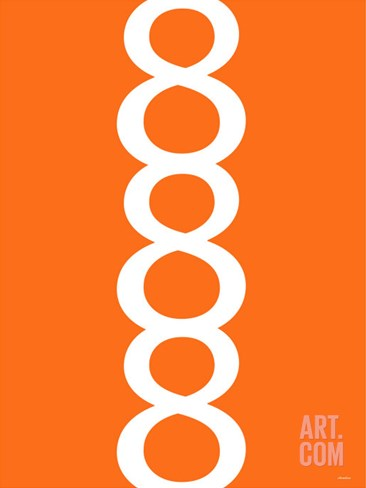 Orange Figure 8 Design Stretched Canvas Print
