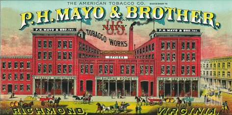 Richmond, Virginia, P.H. Mayo and Brother US Navy Brand Tobacco Label Stretched Canvas Print