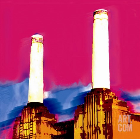 Battersea Power Station, London Stretched Canvas Print