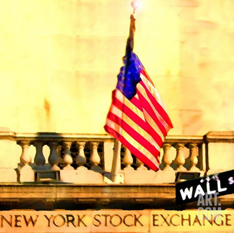 NYSE, New York Stretched Canvas Print