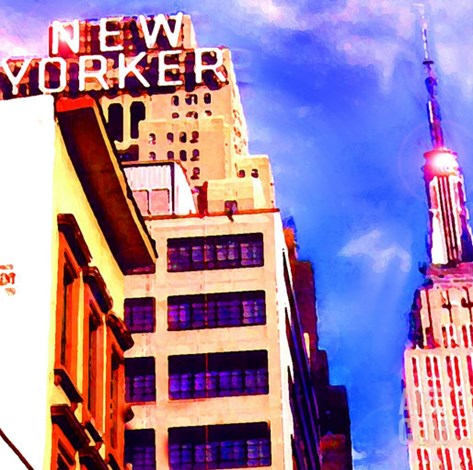 New Yorker, New York Stretched Canvas Print