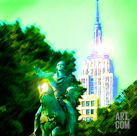 Empire State Building, New York Stretched Canvas Print