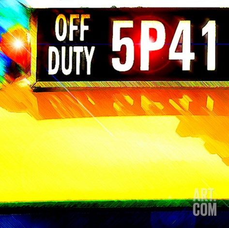 Cab Off Duty, New York Stretched Canvas Print