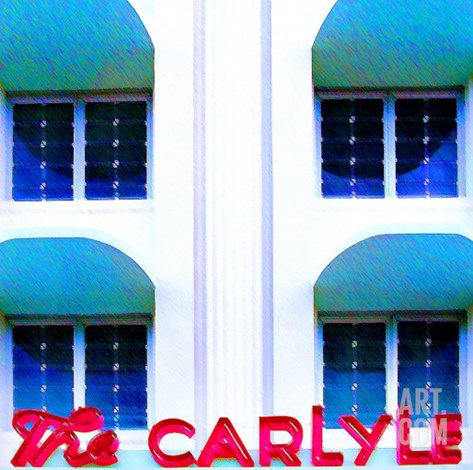 The Carlyle, Miami Stretched Canvas Print