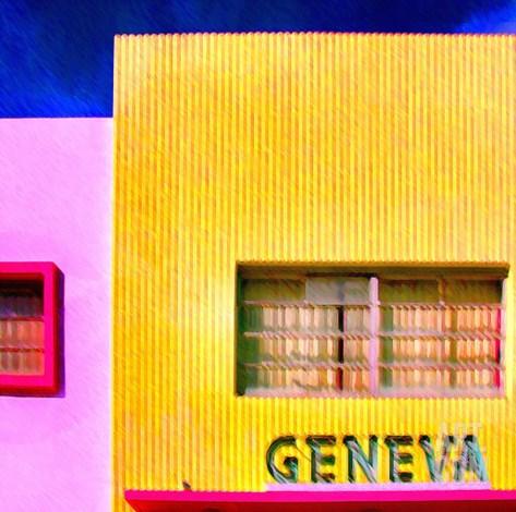 Geneva, Miami Stretched Canvas Print