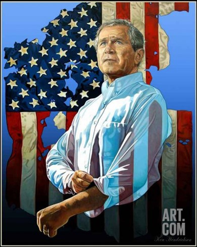 George W. Bush - The Reminder Stretched Canvas Print
