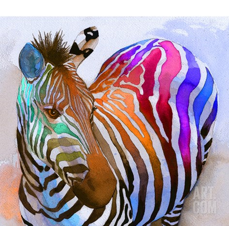 Zebra Dreams Stretched Canvas Print
