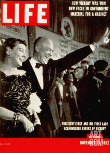 Dwight D. Eisenhower and Mamie, November 17, 1952 Stretched Canvas Print
