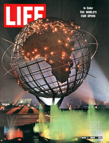 New York World's Fair, May 1, 1964 Stretched Canvas Print