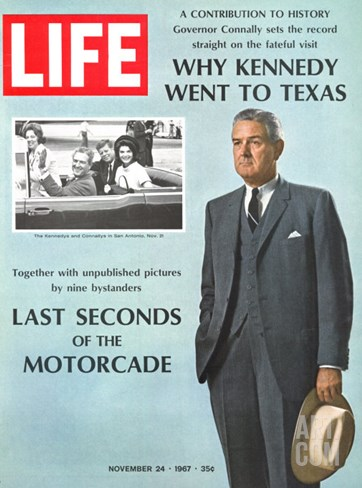 Why Kennedy Went to Texas, Last Seconds of the Motorcade, November 24, 1967 Stretched Canvas Print