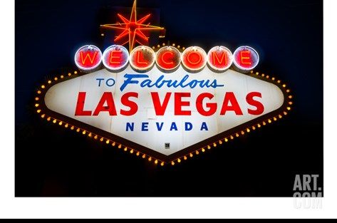 Fabulous Las Vegas Sign Stretched Canvas Print